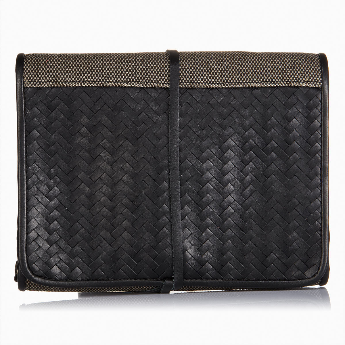 Herringbone Wash Roll, Black: Men's Toiletry Hanging Travel Bag