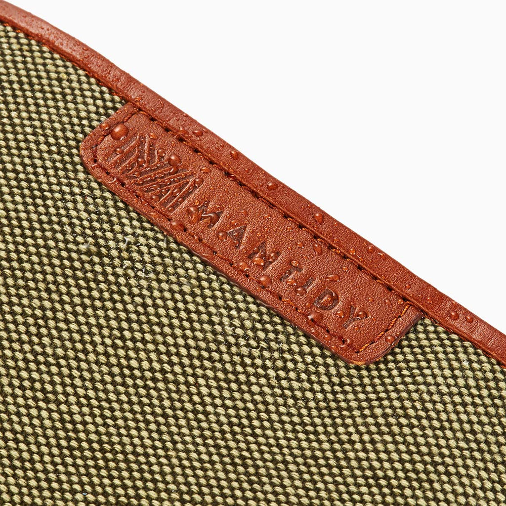 Herringbone Wash Roll, Tan: Men's Toiletry Hanging Travel Bag