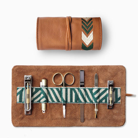 Gaucho Grooming Roll, Tan: Men's Manicure Set