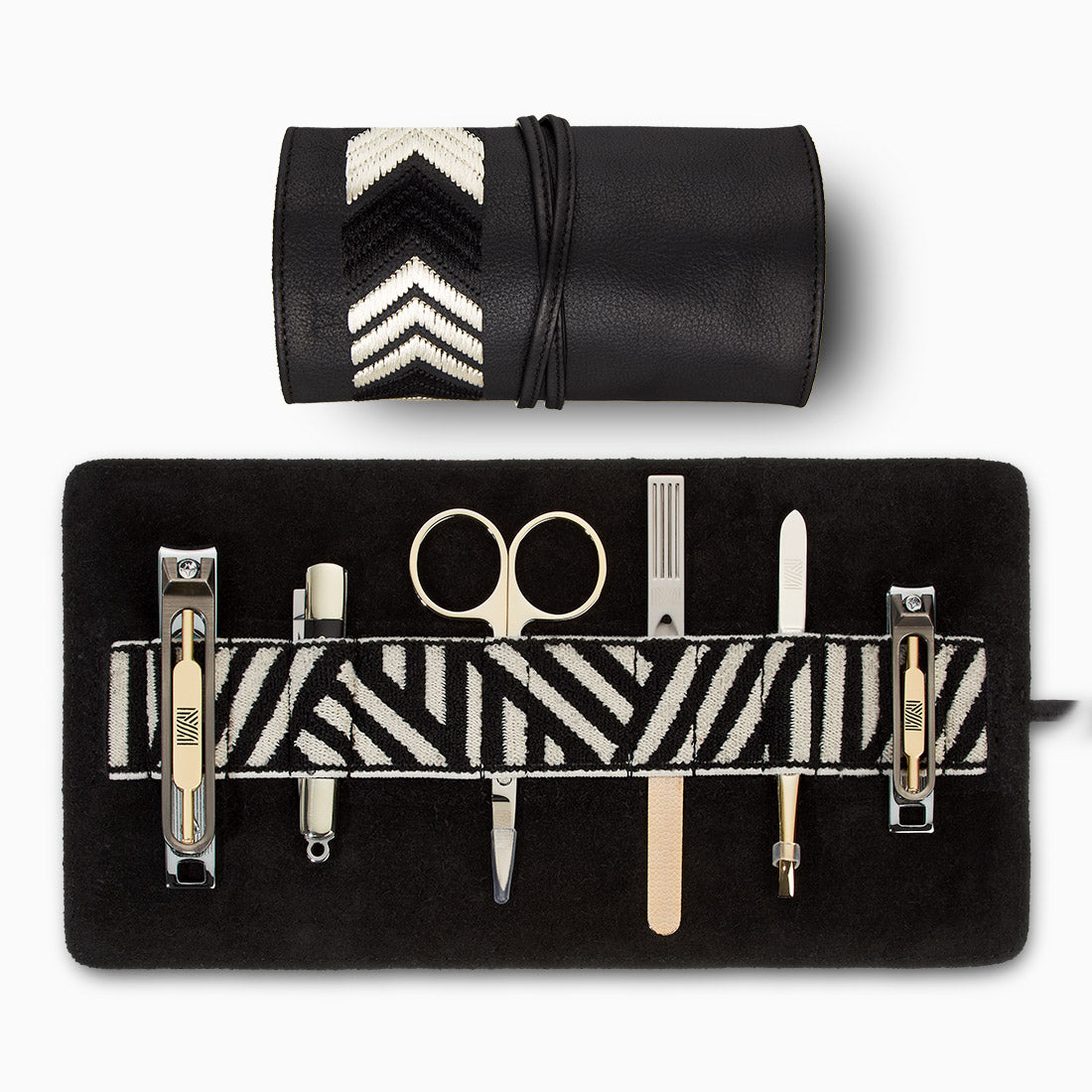 Gaucho Grooming Roll, Black: Men's Manicure Set