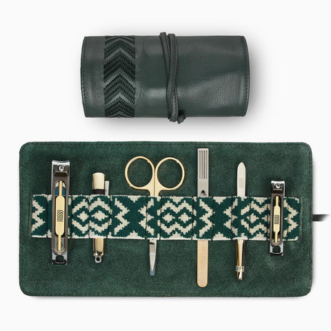 Gaucho Grooming Roll, Racing Green: Men's Manicure Set