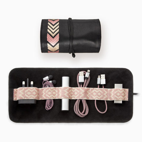 Gaucho Tech Roll Set - Black/ Pink