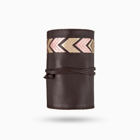 Gaucho Tech Roll Set - Dark Brown/ Pink
