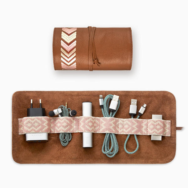 Gaucho TechRoll, Tan/ Dusty Pink