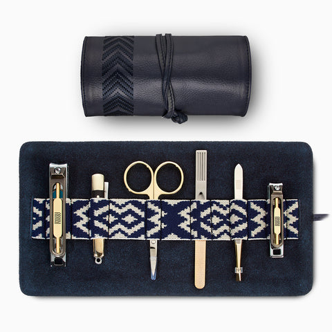 Gaucho Grooming Roll, Navy Blue: Men's Manicure Set