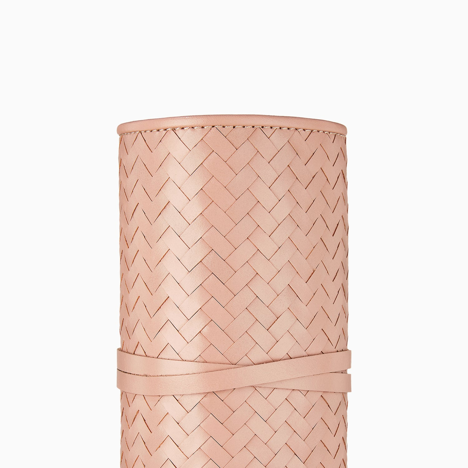 Herringbone Grooming Roll, Dusty Pink: Manicure Set