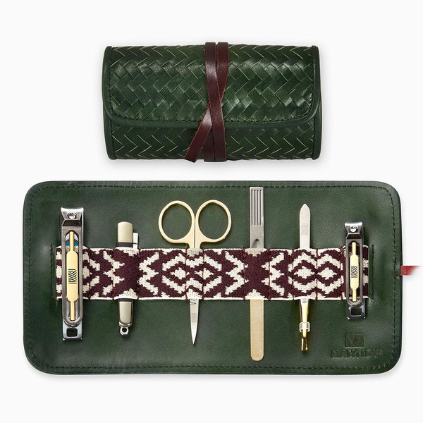 Herringbone Grooming Roll, Racing Green