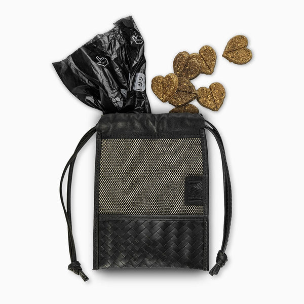 Herringbone Pooch Pouch, Dog Walking Pouch Set