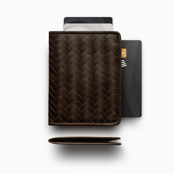 Herringbone Wallet, Brown
