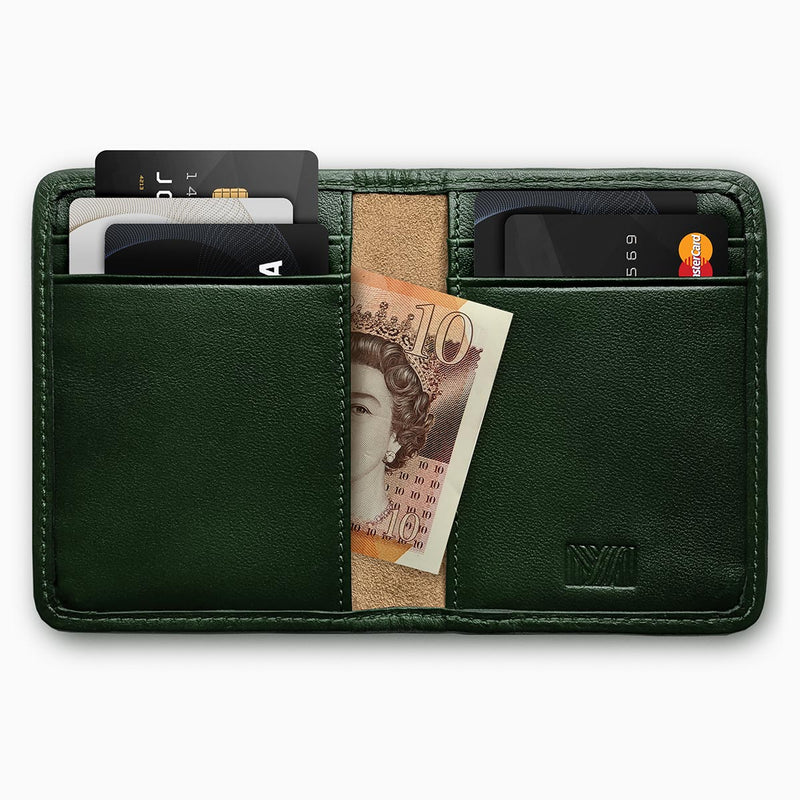 Herringbone Wallet, Racing Green