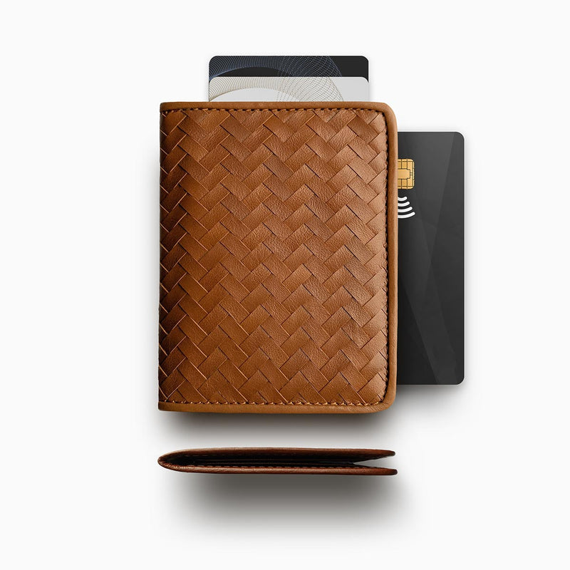 Herringbone Wallet, Tan