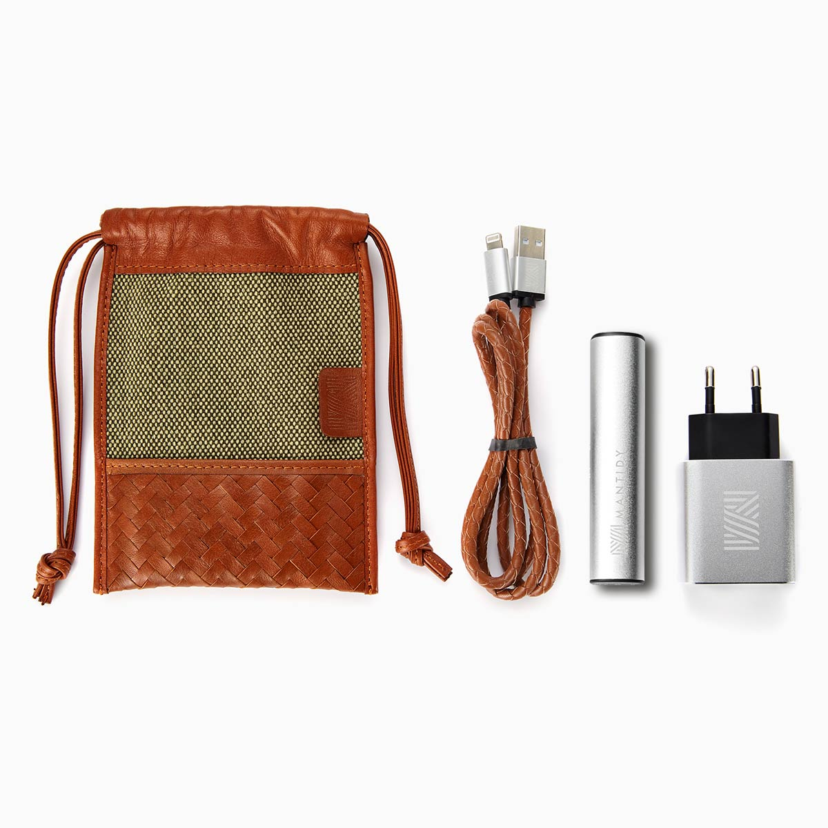 Herringbone TechPACK, Tan: Phone Accessories Kit w Power Bank