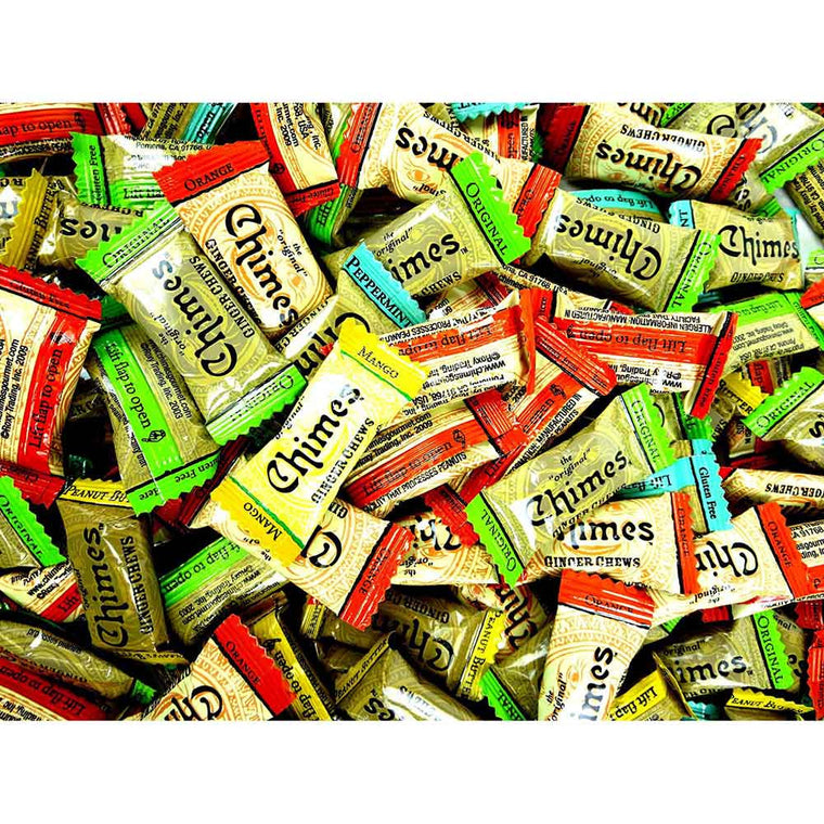 Chimes Ginger Chews Variety Original, Peppermint, Orange, Mango, & Peanut Butter Flavors