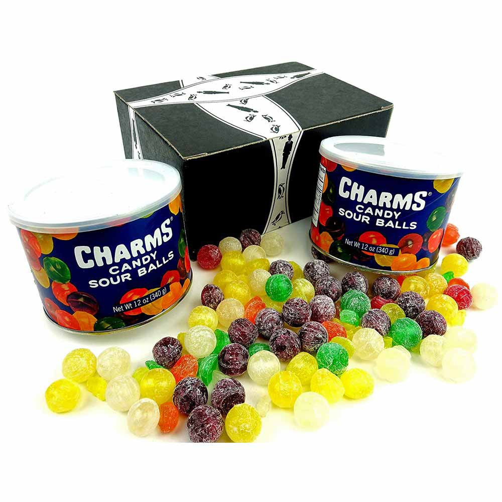 Charms Sour Balls 12oz Cannisters 2 Pack