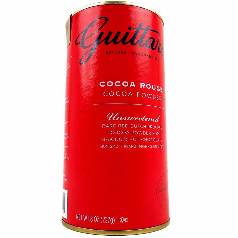 E Guittard Cocoa Powder, Unsweetened Rear Red Dutch Process Cocoa, 8oz