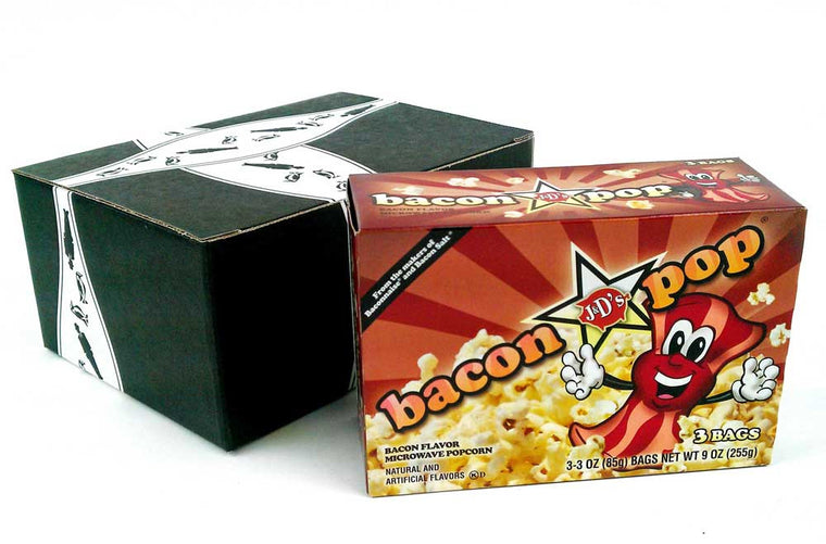J&D's BaconPOP Bacon Flavor Microwave Popcorn 9 oz Box