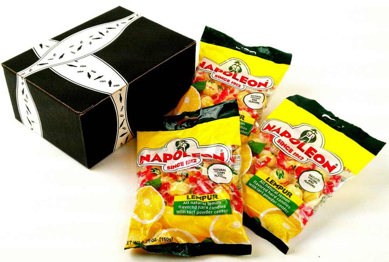 Napoleon Lempur (Lemon) Hard Candy, 5.29 oz Bags