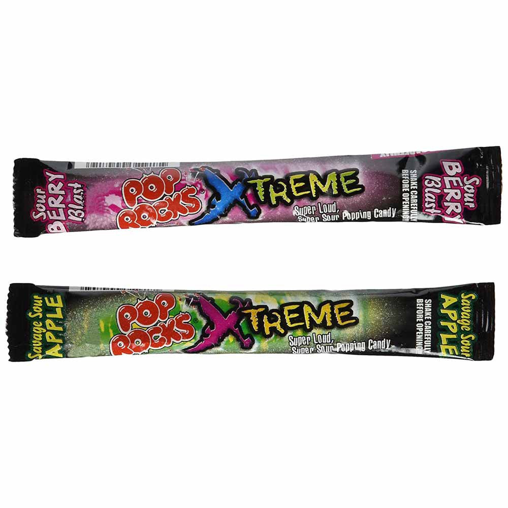 POP ROCKS XTREME Sour Popping Candy 2-Flavor Variety