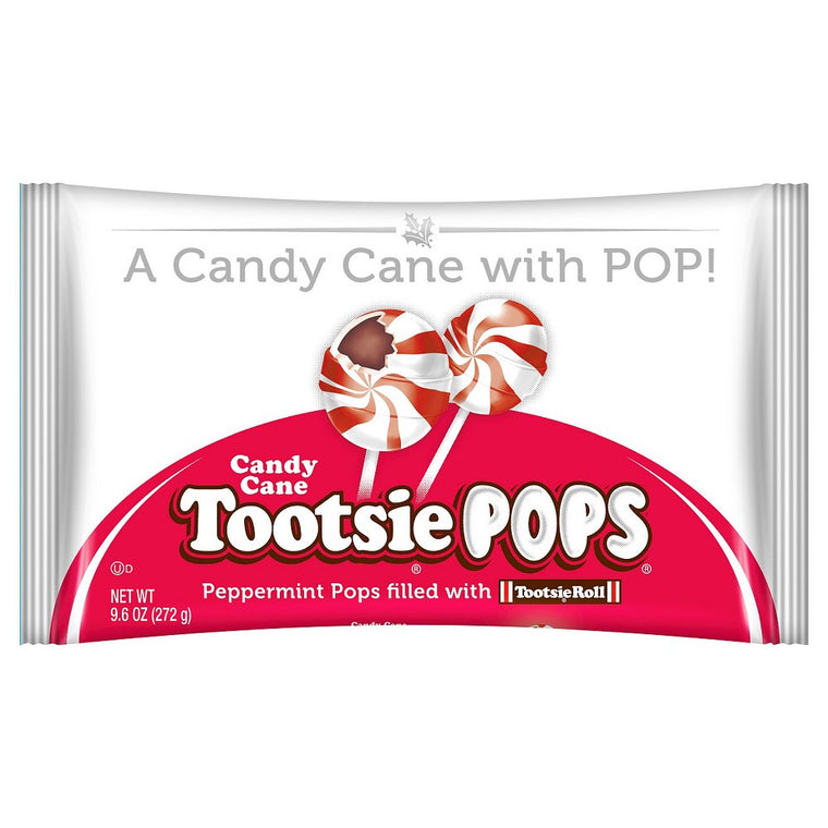 Tootsie Candy Cane Pops, 9.6 oz Bags 3 Pack