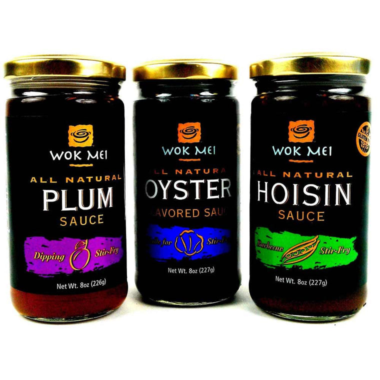 Wok Mei Variety Set of 3 - Oyster, Hoisin and Plum Sauce