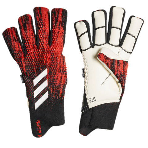 Predator 20 Pro Fingersave Keeper Gloves [Black/Active Red]