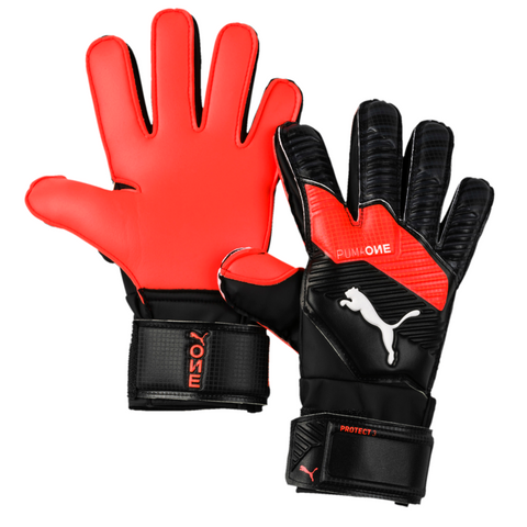 Junior One Protect 3 Keeper Glove [Black/Energy Red]