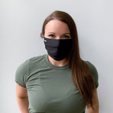 Pleated Black Cotton Face Mask [10-Pack]