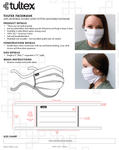 Pleated White Cotton Face Mask [10-Pack]