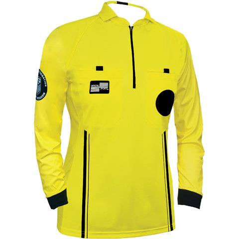 Women's USSF Pro Referee Jersey L/S [Yellow]
