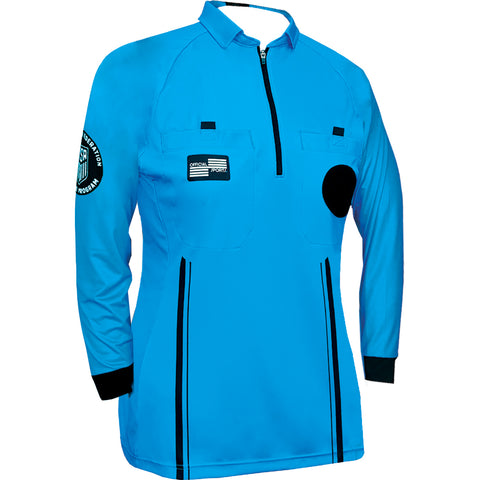 Women's USSF Pro Referee Jersey L/S [Blue]
