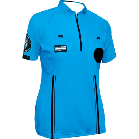 Women's USSF Pro Referee Jersey S/S [Blue]