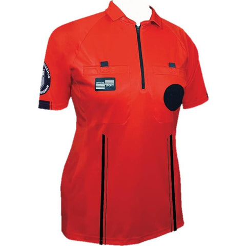 Women's USSF Pro Referee Jersey S/S [Red]