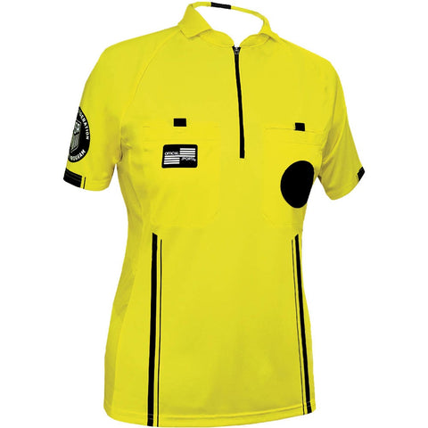 Women's USSF Pro Referee Jersey S/S [Yellow]