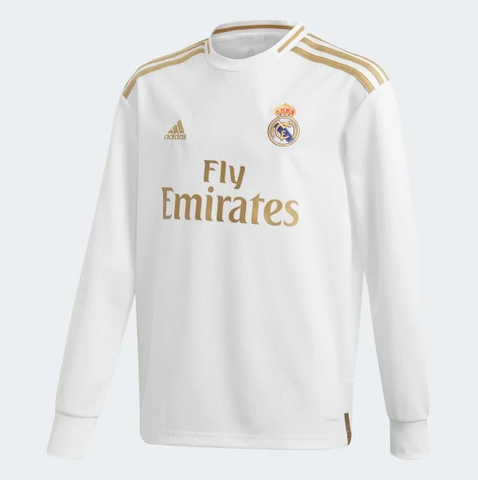 Youth Real Madrid 2019/2020 Home Jersey LS