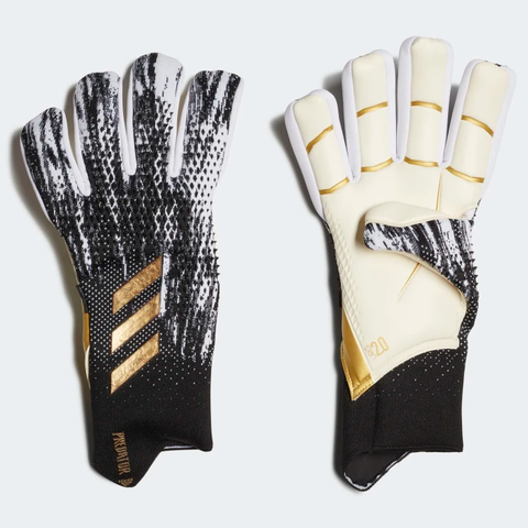 Predator 20 Pro Fingersave Keeper Gloves [Black/White/Gold Metallic]