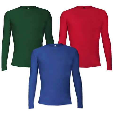 Youth Pro Compression L/S Crew Top [3 Colors]