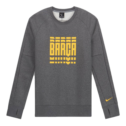 FC Barcelona Fleece Long-Sleeve Crew