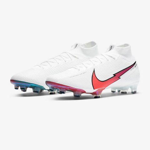 Mercurial Superfly Elite 7 FG [White/Crimson]