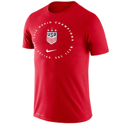 Men's USWNT 2019 WC Champions Tee [Red]