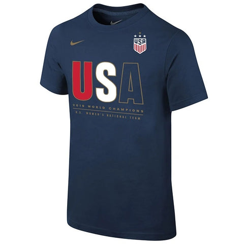 Men's USWNT 2019 WC Champions Tee [Navy Blue]