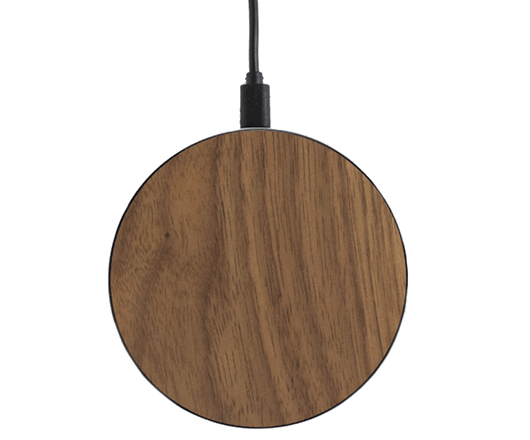1+ Custom Walnut Wood Qi Charger