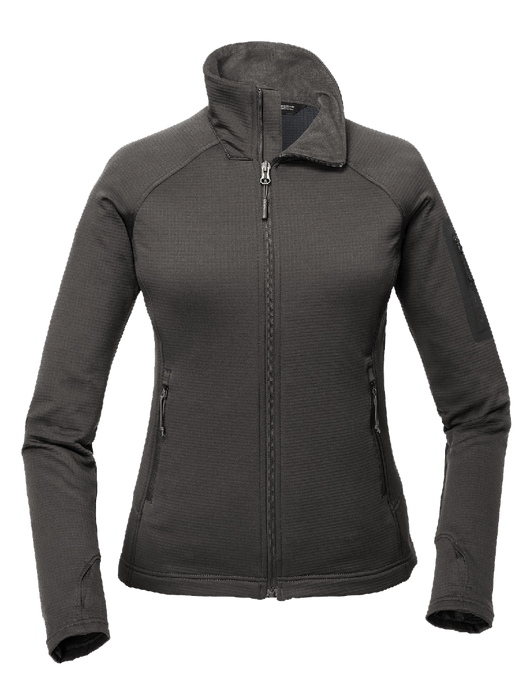 Asphalt Grey / SM Custom The North Face Ladies Mountain Peaks Full-Zip Fleece Jacket