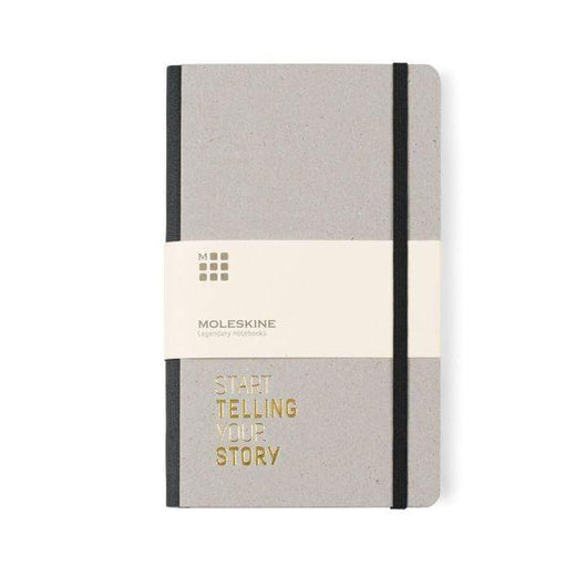Black Custom Moleskine Time Collection Ruled Notebook
