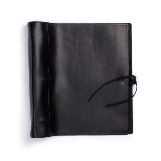 Black Custom Soft Leather Binder