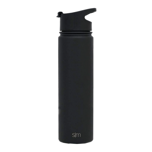 Black Custom Summit Water Bottle With Flip Lid - 22oz