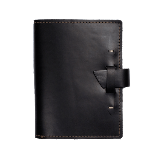 Black Custom Wasatch Leather Notebook
