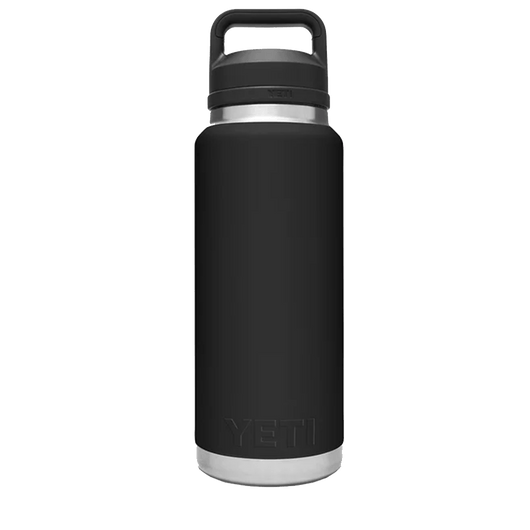 Black Custom YETI Rambler 36oz Bottle w/ Chug Cap