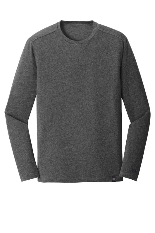 Black Heather / XS Custom Heritage Blend Long Sleeve Crew Tee