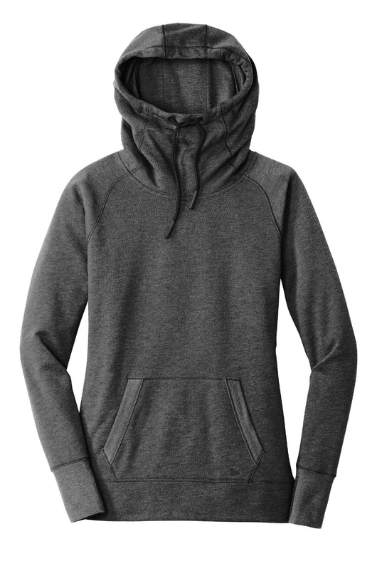 Black Heather / XS Custom Ladies Tri-Blend Fleece Pullover Hoodie