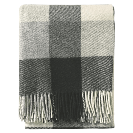 Black/Ivory Custom Pendleton Wool Fringed Throw